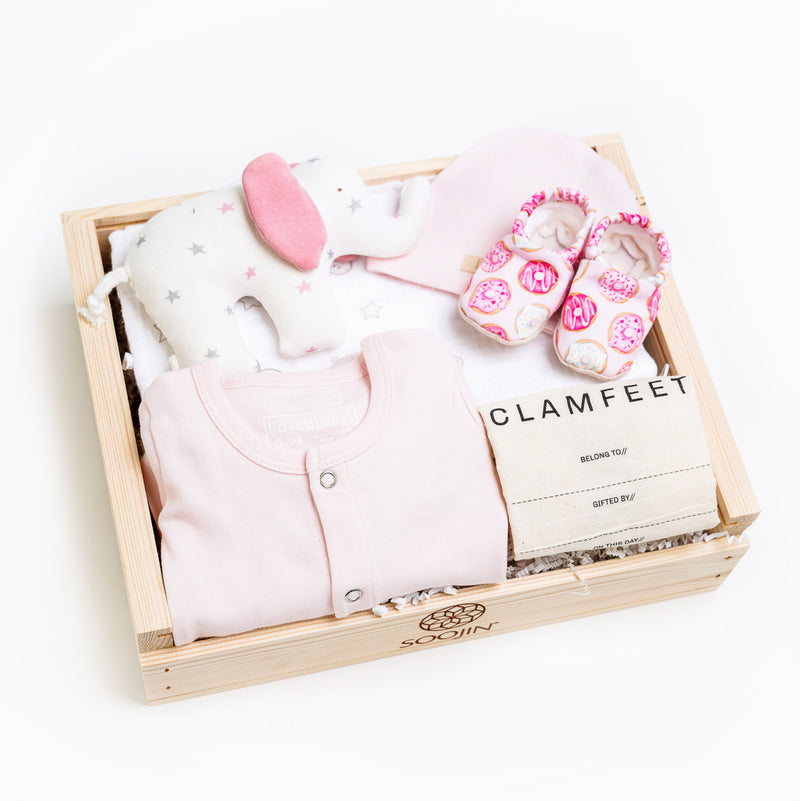 Pretty in Pink Welcome home gift box