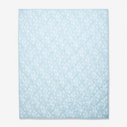 Bay Blue Seaweed 100% Organic Cotton Quilted Baby Blanket (4361153183805)