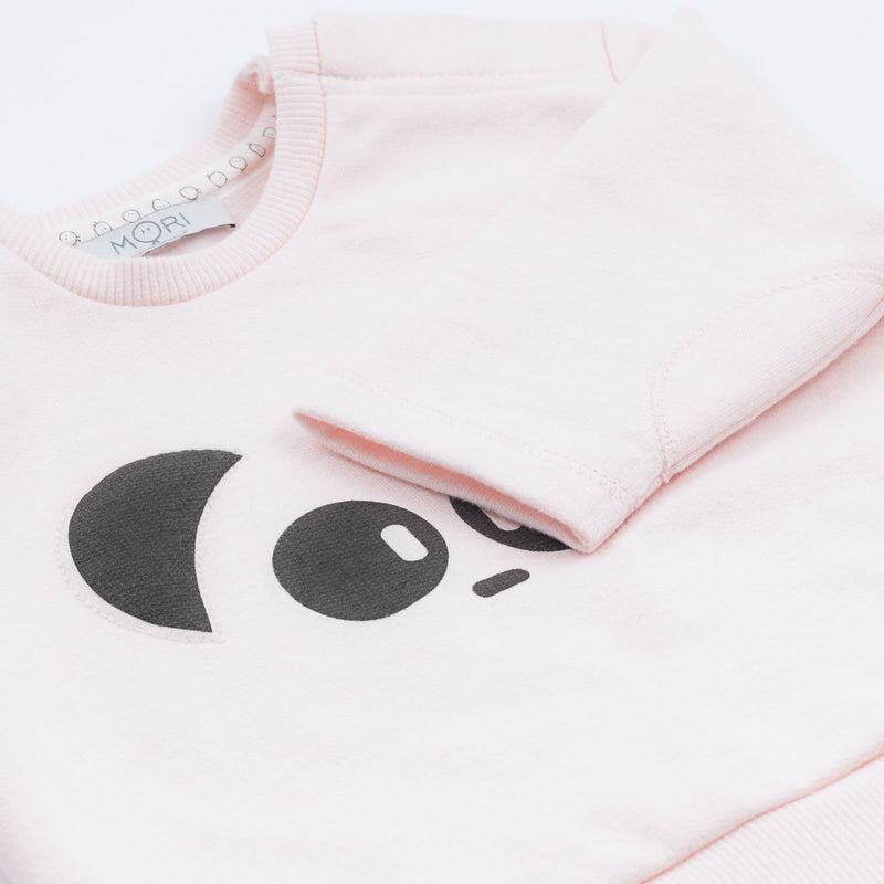 Light Pink Organic Panda Sweatshirt (4360274739261)