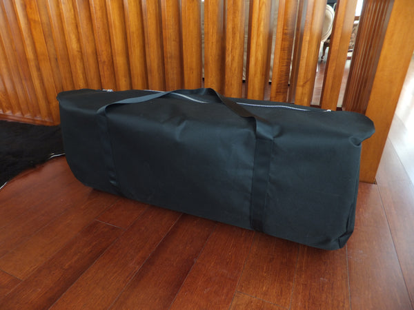 Bag for carrying the spanking horse to an event or on a plane.