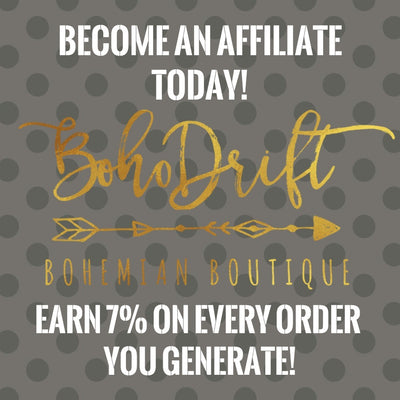 Get paid to promote BohoDrift!