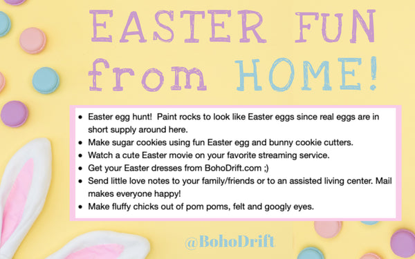 BohoDrift.com Easter Fun Ideas From Home!