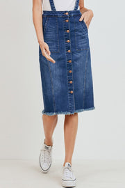 Denim Overall Dress | S-3XL