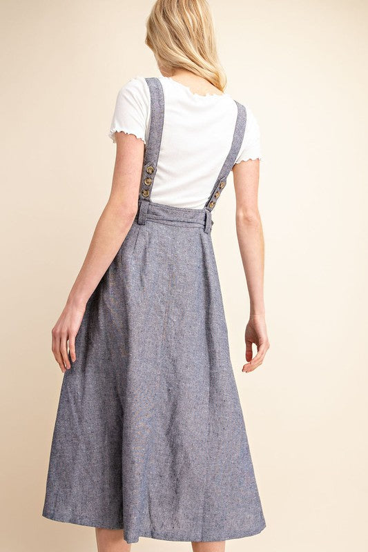 CLEARANCE Denim Overall Dress | S