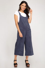 Navy Blue Suspender Jumpsuit | Large