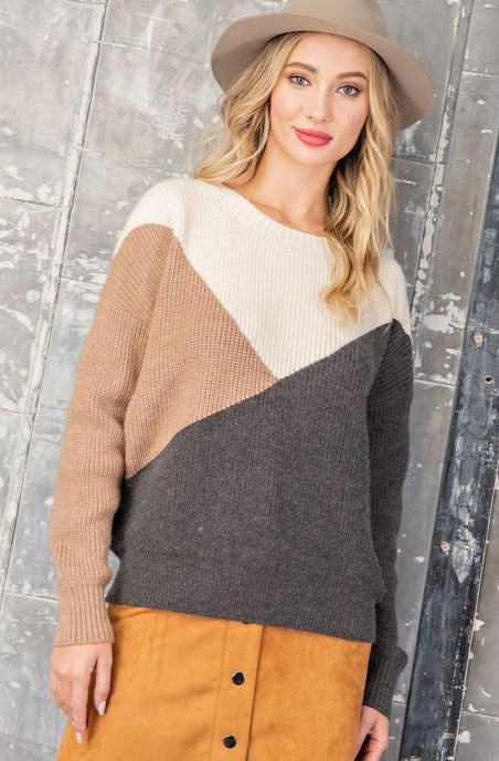 Colorblock Knit Sweater | S-L