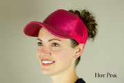 Glitter Messy Bun Trucker Hat | 11 COLORS