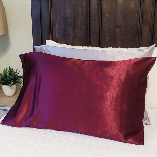 Crushed Satin Pillowcase - 8 Colors!