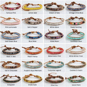 Boho Leather Beaded Bracelet | 32 colors