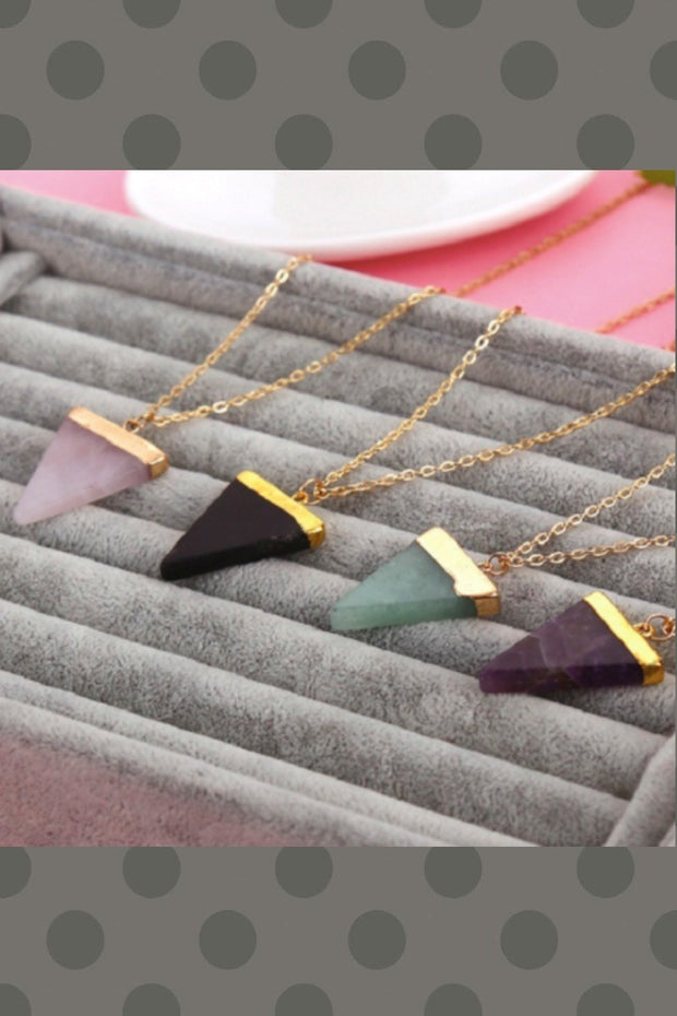 Quartz Necklace | 4 COLORS