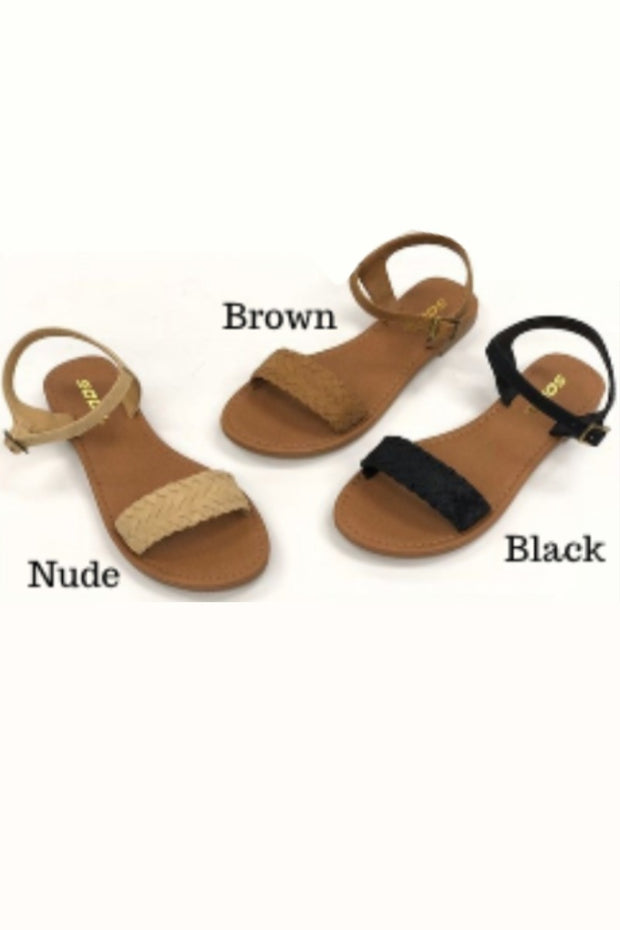 Jazzy Sandals in Brown