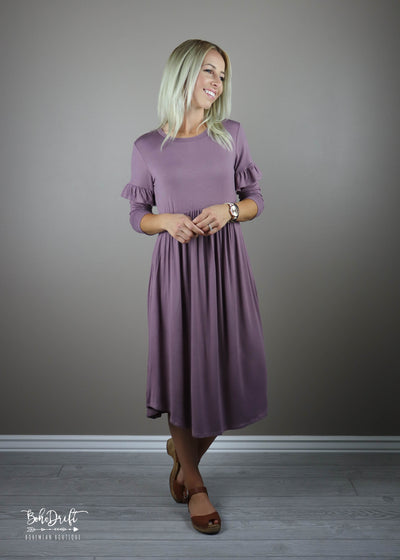 Orchid Faye Ruffle Sleeve Dress CLEARANCE | L