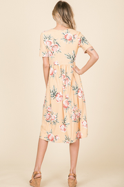 CLEARANCE Marigold Floral Midi Dress | S-XL