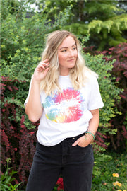 Tie-Dye Lips Graphic T-Shirt | S-XL