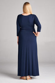 Navy Wrap Style Maxi Dress CLEARANCE | 3XL
