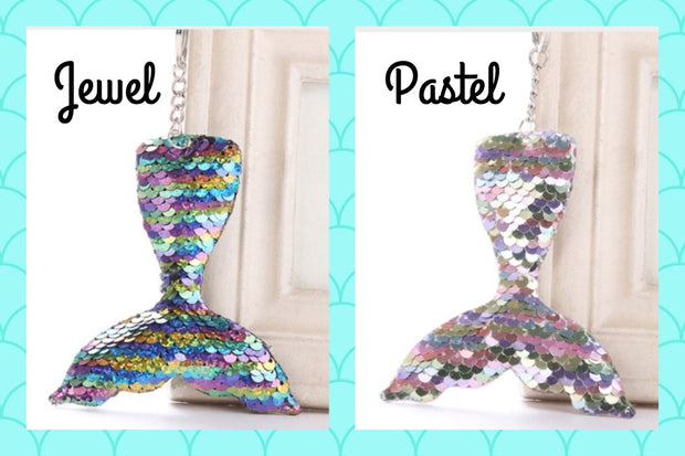 Mermaid Tail Keychains | 2 colors!