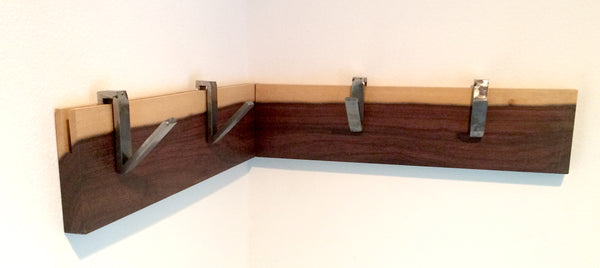 Steel+Wood Coat Hooks