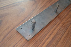 Natural Steel Coat Hook System