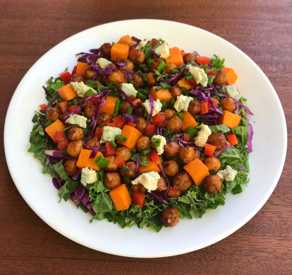 Vegan Buffalo Chickpea Salad