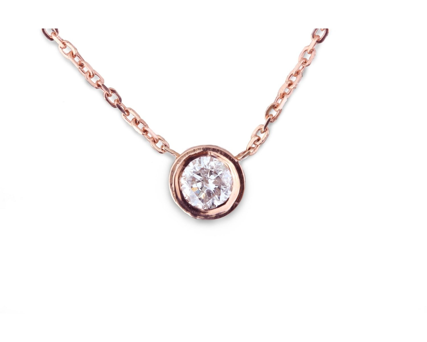 dsc ways set ct necklace pendant solitaire bezel products diamond