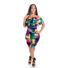 RETRO COLORFUL BODYCON DRESS