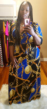 Royal Blue Medallion Maxi dress