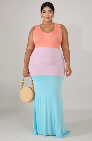 Sweet tarts plus size maxi