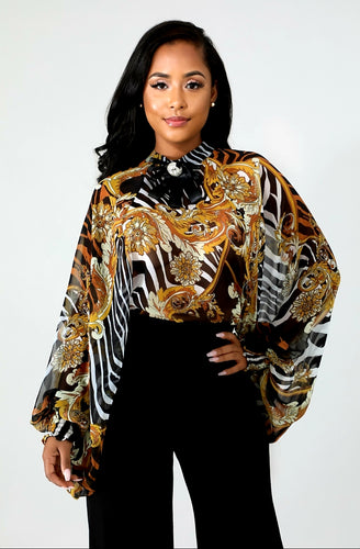 Zebra Goddess Blouse