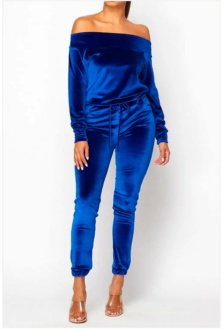 Blue crush velvet jumper