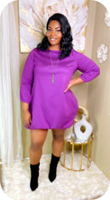 Purple bubble dress