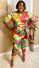 Red tye dye jumpsuit