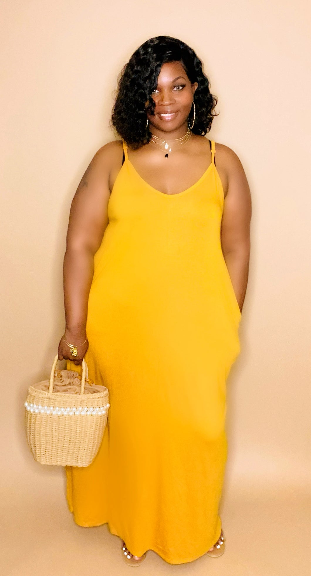 Mustard yellow chill maxi
