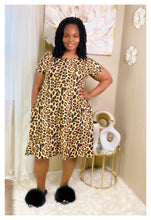 Sadie cheetah swing dress w/matching mask
