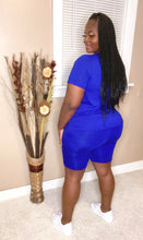 Royal Blue Chill Short Set