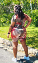 Rust tye dye short set