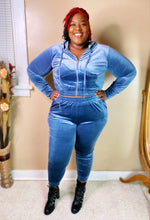 Blue Velour Set