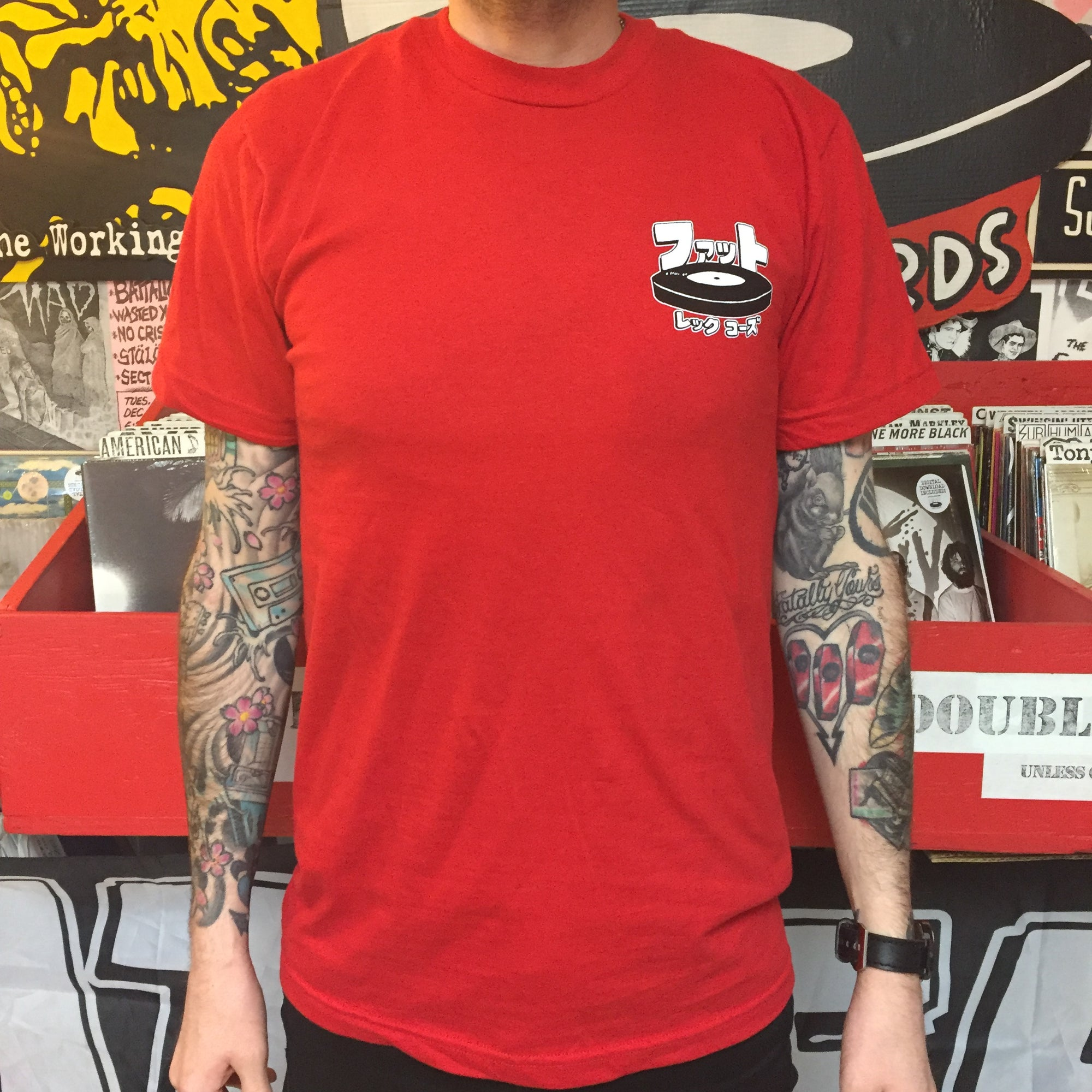 Japanese Fat Logo Shirt RED