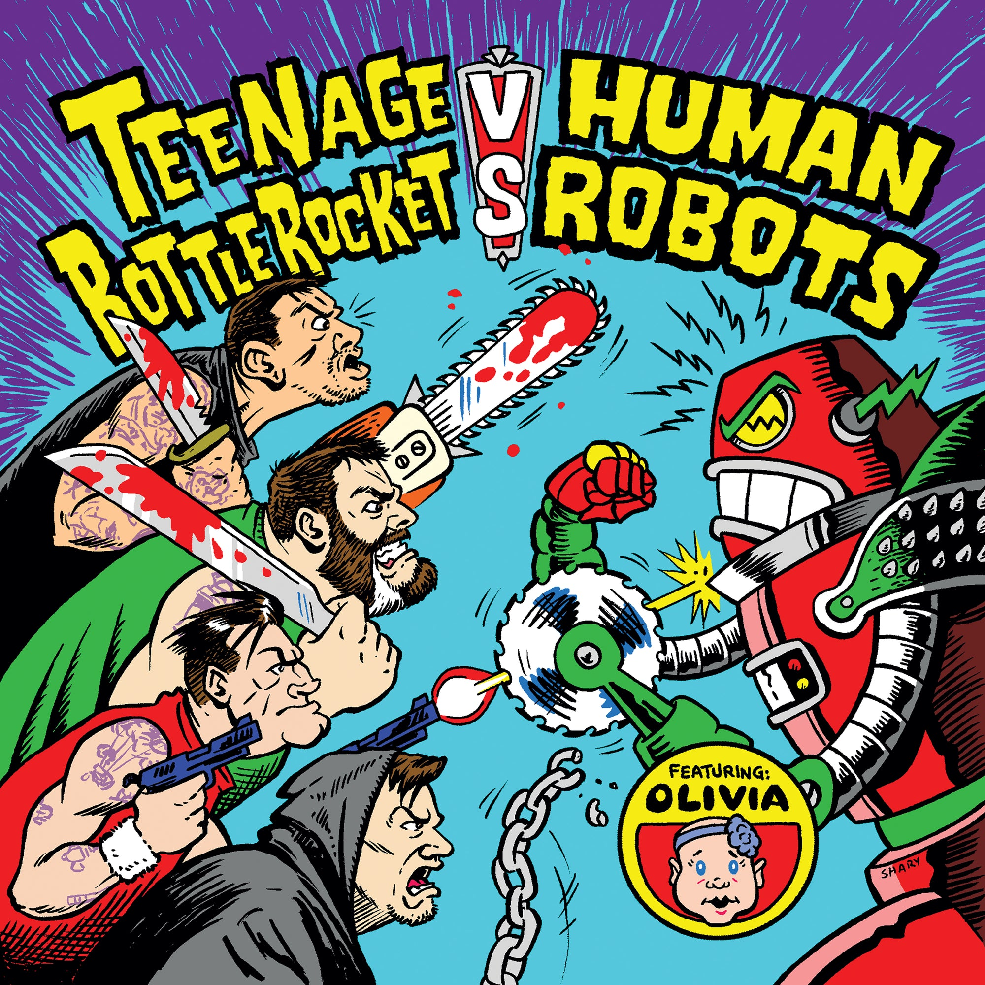 Teenage Bottlerocket vs. Human Robots