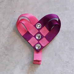 woven heart hair clip tutorial