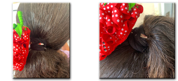 hair bow, diy, how to, strawberry hair bow, hair accessories