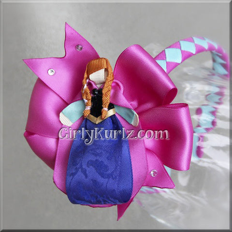 princess anna headband hair bow