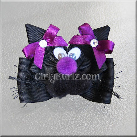 black cat hair bow