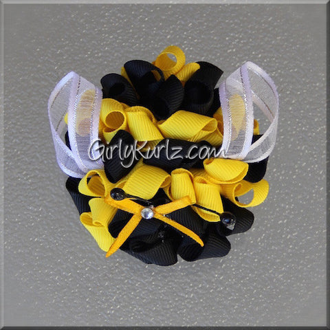 bumble bee hair clip