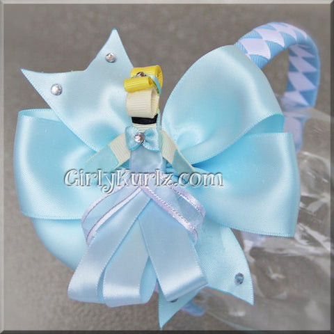 cinderella headband hair bow