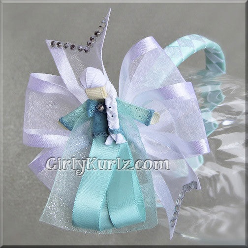 elsa headband hair bow