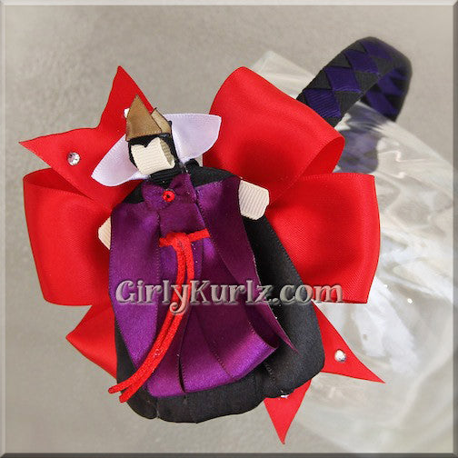 evil queen headband hair bow