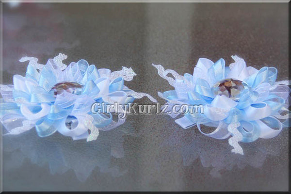 snowflake hair bow