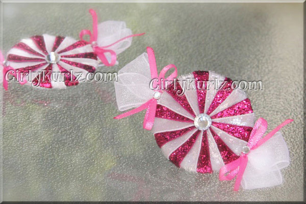 peppermint hair clips