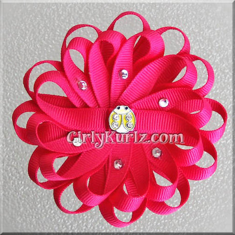 loopy flower hair bow