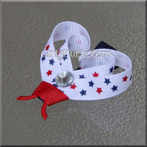 4th of July Ladybug Hair Clip